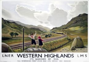 Western Highlands. LNER Vintage Travel Poster by Keith Henderson